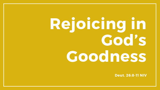 """Rejoicing In God's Goodness!"" - Sermon"
